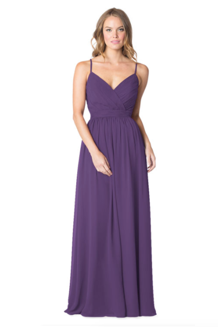 Bari Jay Bridesmaid Dress - 1606 IC-Plum