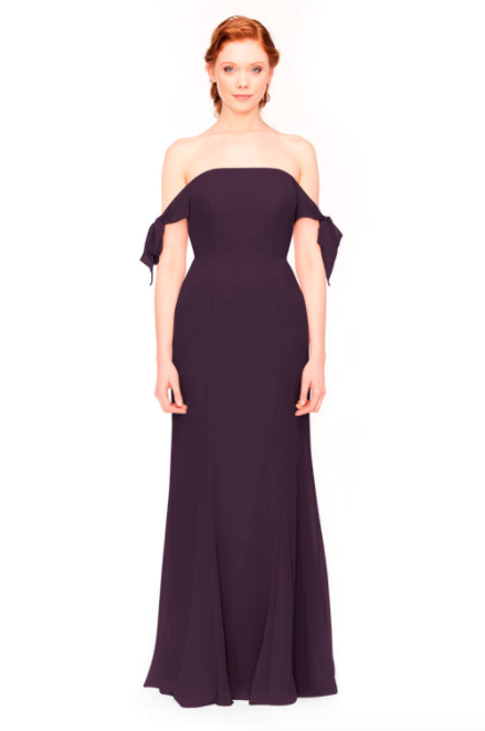 Bari Jay Bridesmaid Dress 1974 - Plum