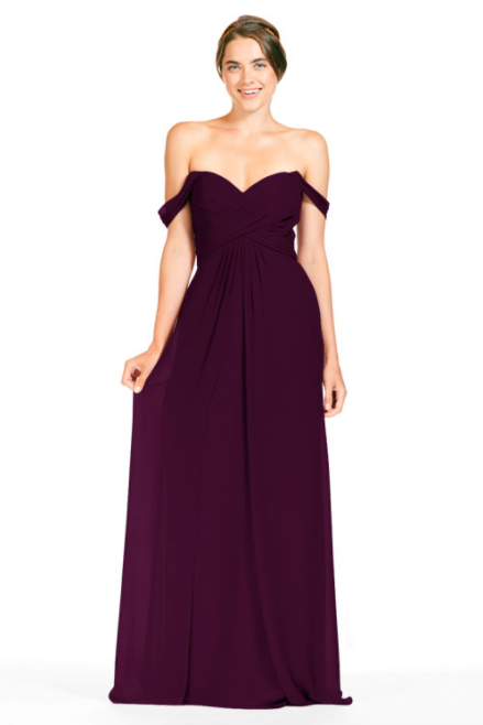Bari Jay Bridesmaid Dress 1803 - Plum