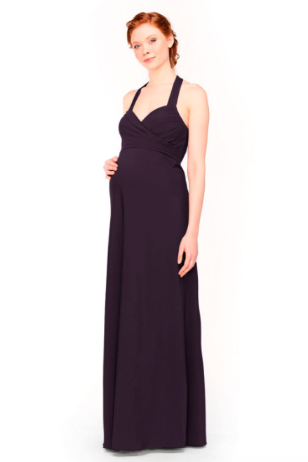 Bari Jay Maternity Bridesmaid Dress 1958 -Plum