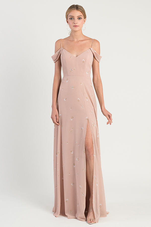 Jenny Yoo Long Bridesmaid Dress Priya Print