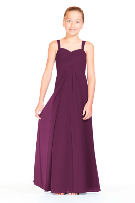 Bari Jay Junior Bridesmaid Dress 1803 (JR)-Raspberry