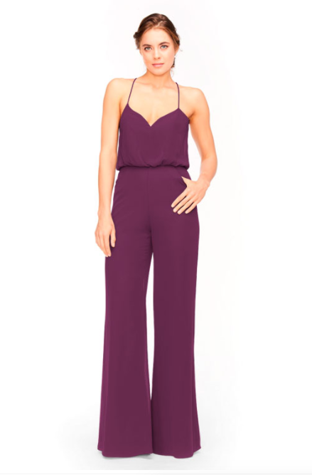 Bari Jay Jumpsuit Bridesmaid Dress 1964 - Raspberry