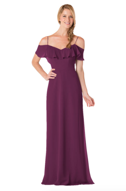 Bari Jay Bridesmaid Dress - 1730-Raspberry