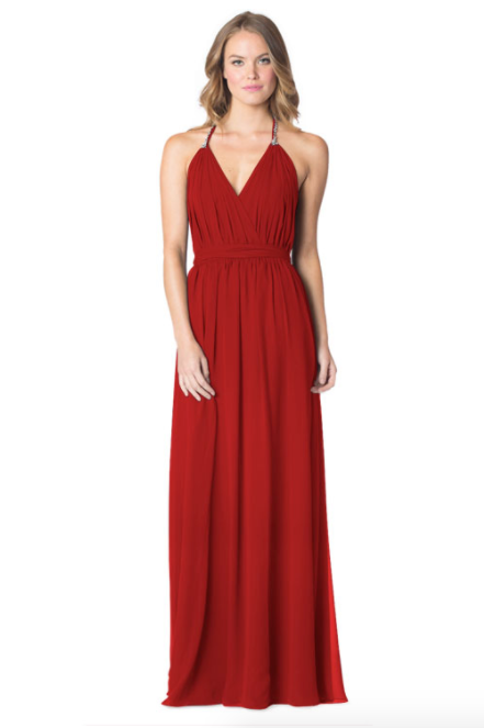 Red-Bari Jay Bridesmaid Dress - 1600