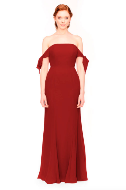 Bari Jay Bridesmaid Dress 1974 - Red