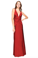 Bari Jay Bridesmaid Dress 2001 -Red