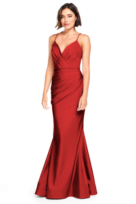 Bari Jay Bridesmaid Dress 2000 -Red