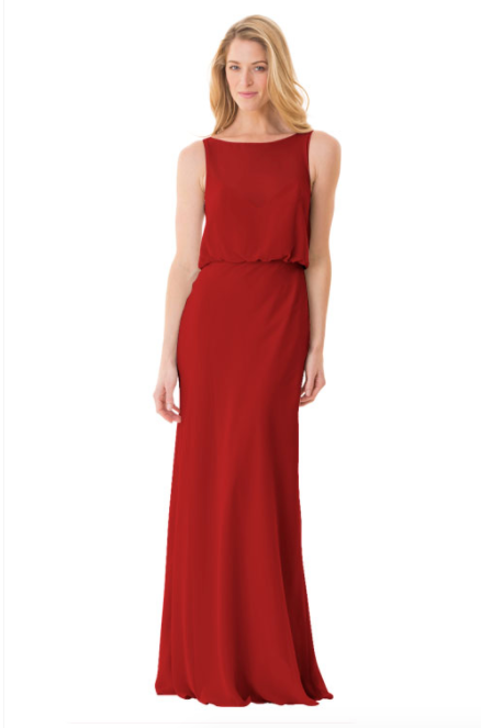 Bari Jay Bridesmaid Dress - 1661-Red