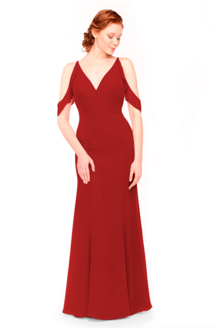 Bari Jay Bridesmaid Dress 1972 - Red