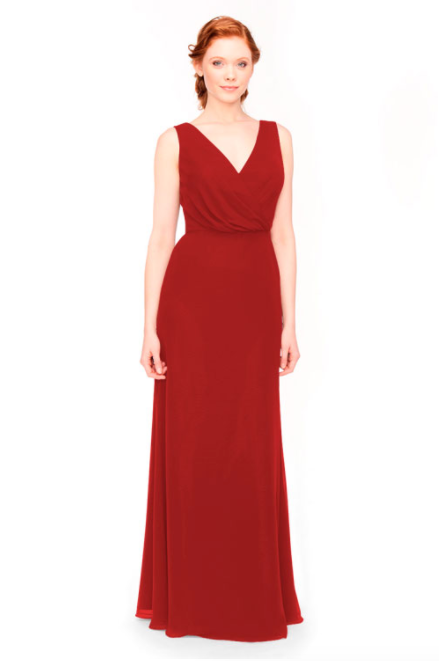 Bari Jay Bridesmaid Dress 1970 -Red