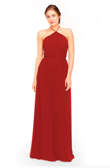 Bari Jay Bridesmaid Dress 1969 - Red