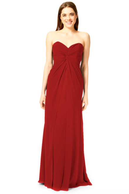 Bari Jay Bridesmaid Dress 1870 -Red