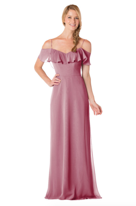 Bari Jay Bridesmaid Dress - 1730-Rose