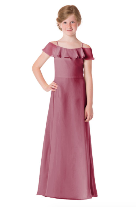Bari Jay Junior Bridesmaid Dress - 1730(JR)-Rose
