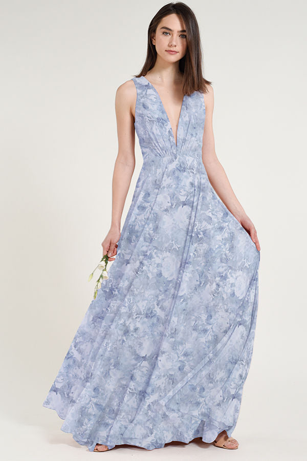 Jenny Yoo Long Bridesmaid Dress Ryan Print