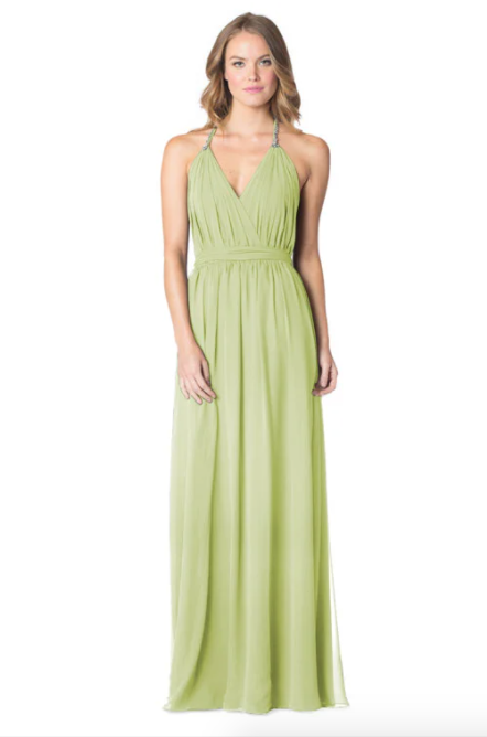 Sage-Bari Jay Bridesmaid Dress - 1600