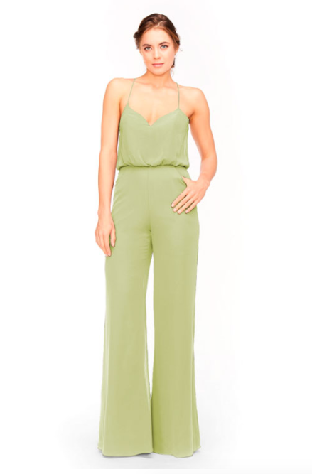 Bari Jay Jumpsuit Bridesmaid Dress 1964 - Sage