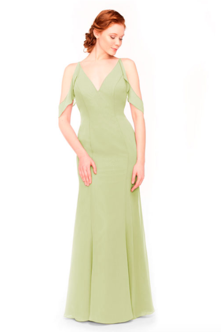 Bari Jay Bridesmaid Dress 1972 - Sage
