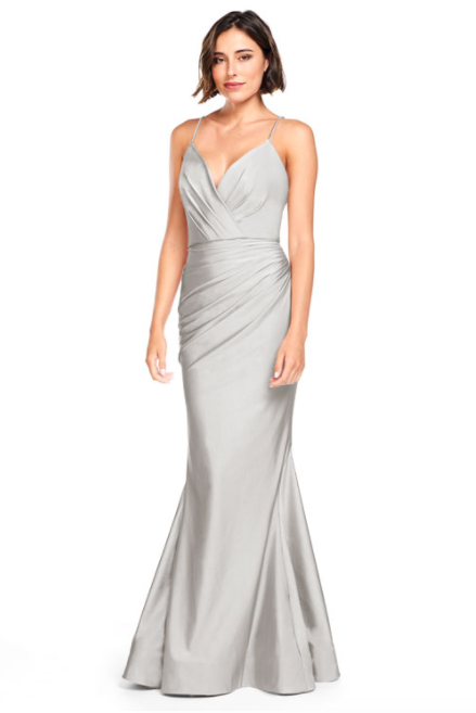 Bari Jay Bridesmaid Dress 2000 -Silver