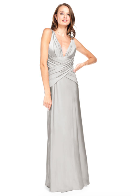 Bari Jay Bridesmaid Dress 2001 -Silver