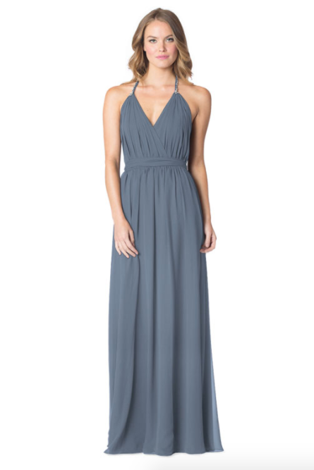 Slate-Bari Jay Bridesmaid Dress - 1600