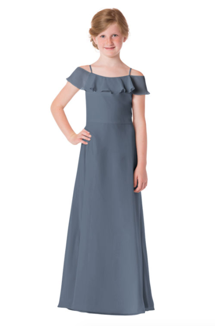 Bari Jay Junior Bridesmaid Dress - 1730(JR)-Slate