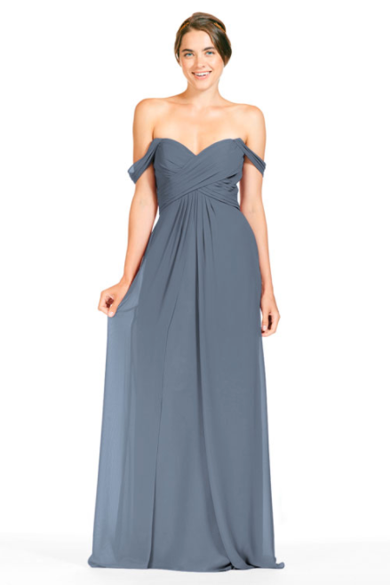 Bari Jay Bridesmaid Dress 1803 - Slate