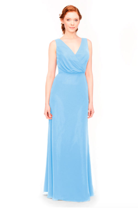 Bari Jay Bridesmaid Dress 1970 -StoneBlue