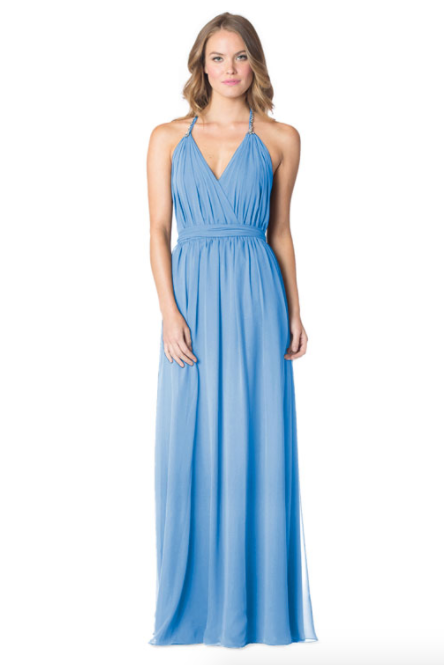 Stoneblue-Bari Jay Bridesmaid Dress - 1600