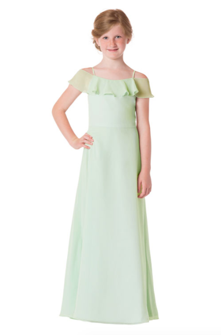 Bari Jay Junior Bridesmaid Dress - 1730(JR)-SweetMint