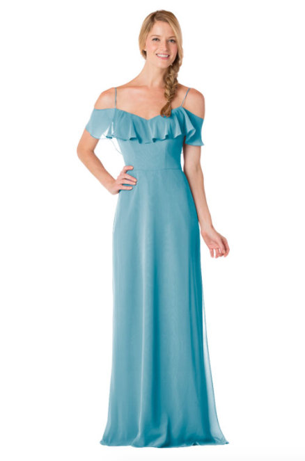 Bari Jay Bridesmaid Dress - 1730-Turquoise
