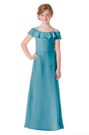 Bari Jay Junior Bridesmaid Dress - 1730(JR)-Turquoise