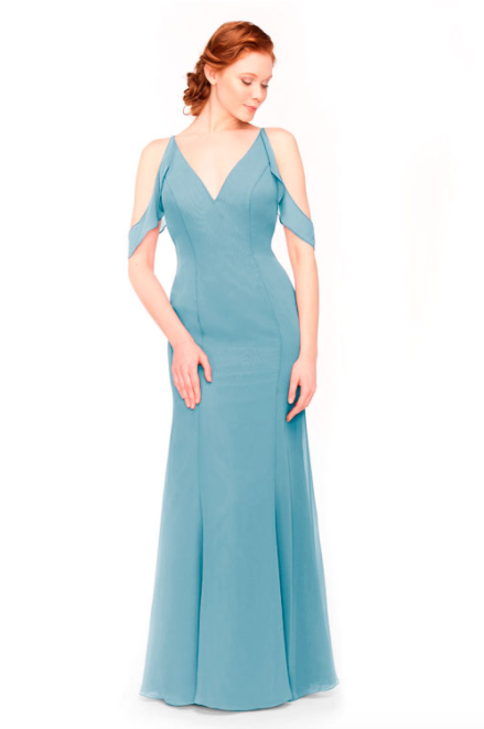 Bari Jay Bridesmaid Dress 1972 - Turquoise