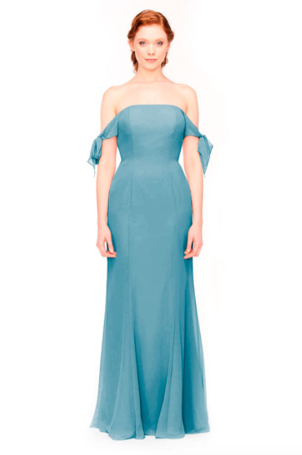 Bari Jay Bridesmaid Dress 1974 - Turquoise