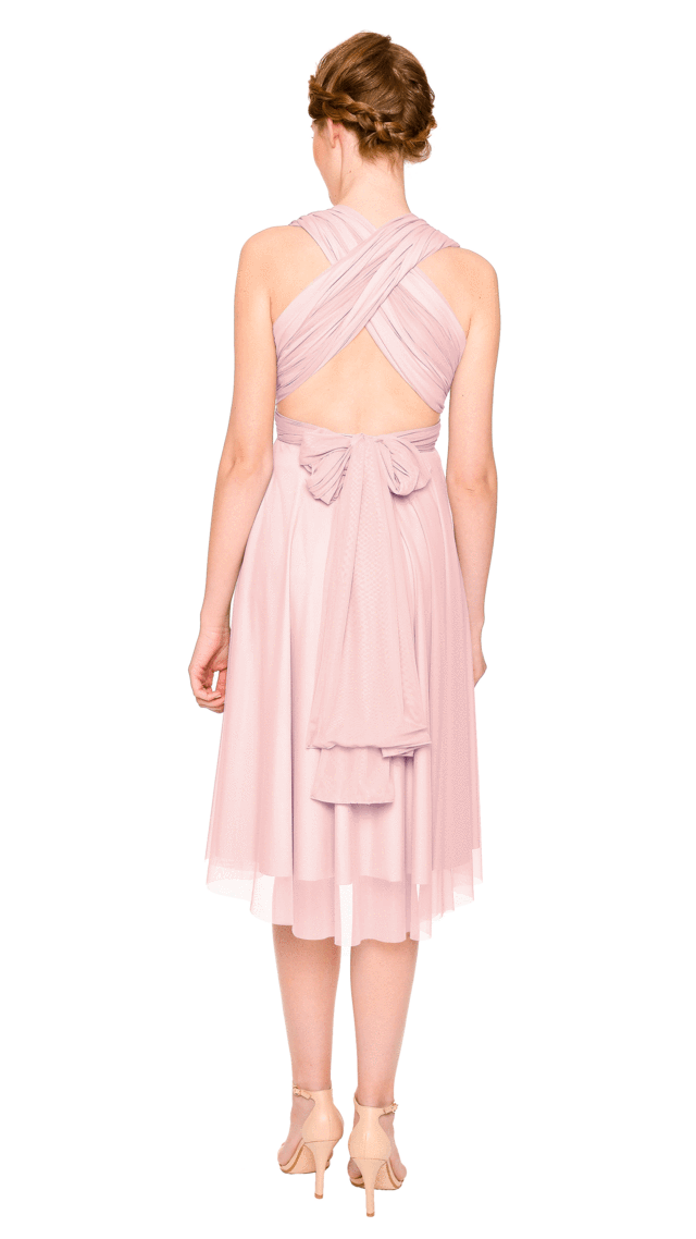 Twobirds Convertible Bridesmaid Dress Tulle Short Straight