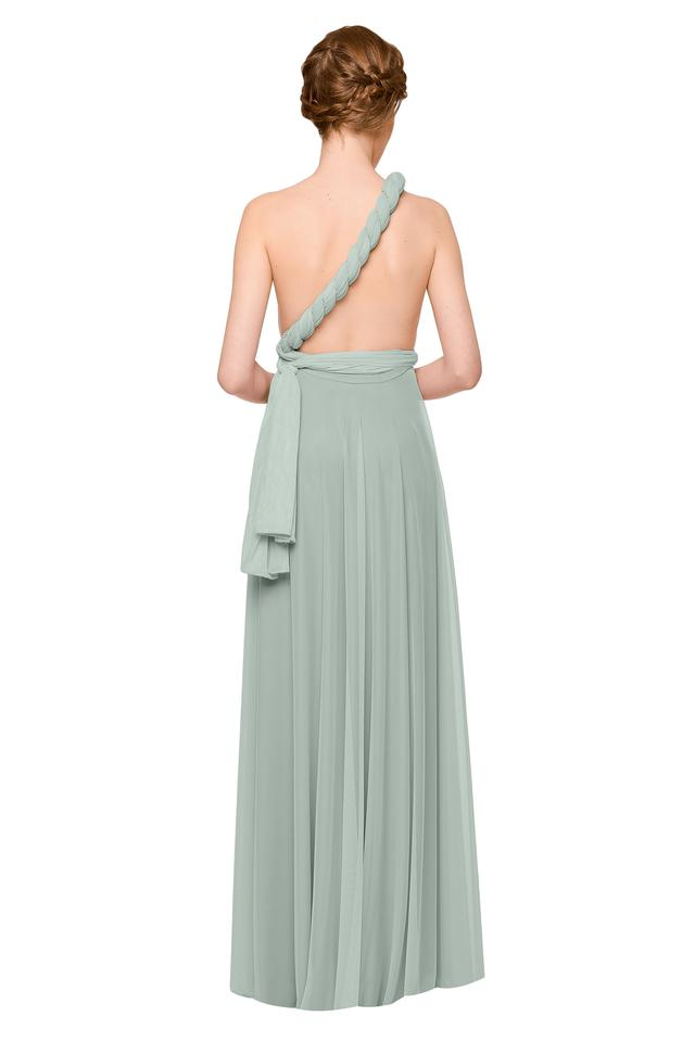 Twobirds-bridesmaid-sage-green-convertible-multiway-tulle-dress-asymetric-one-shoulder-twist-back