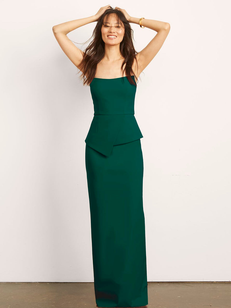 Hunter Altress Victoria with Peplum Long Bridesmaid Dress