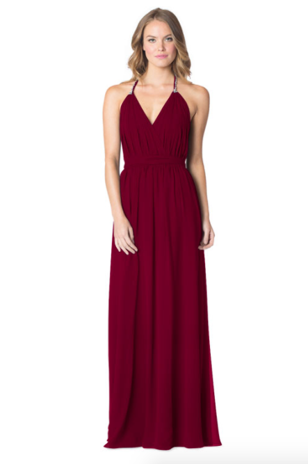 Wine-Bari Jay Bridesmaid Dress - 1600