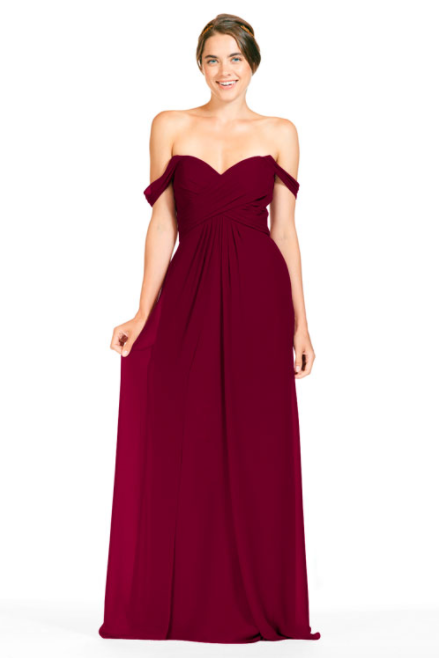 Bari Jay Bridesmaid Dress 1803 - Wine