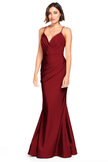 Bari Jay Bridesmaid Dress 2000 -Wine