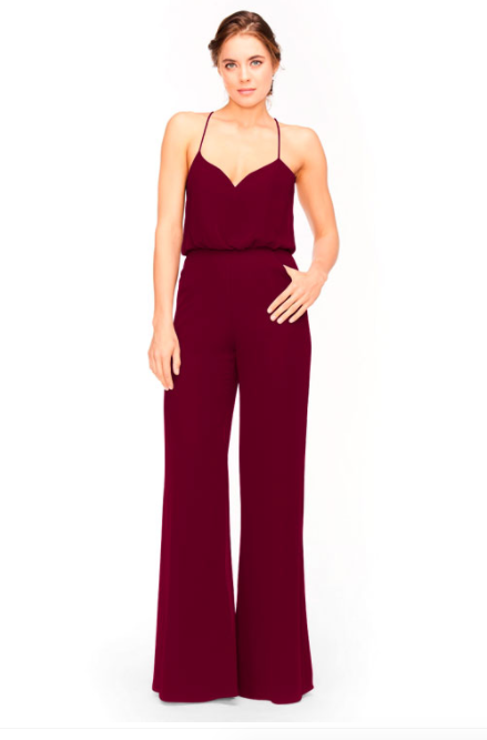 Bari Jay Jumpsuit Bridesmaid Dress 1964 - Wine