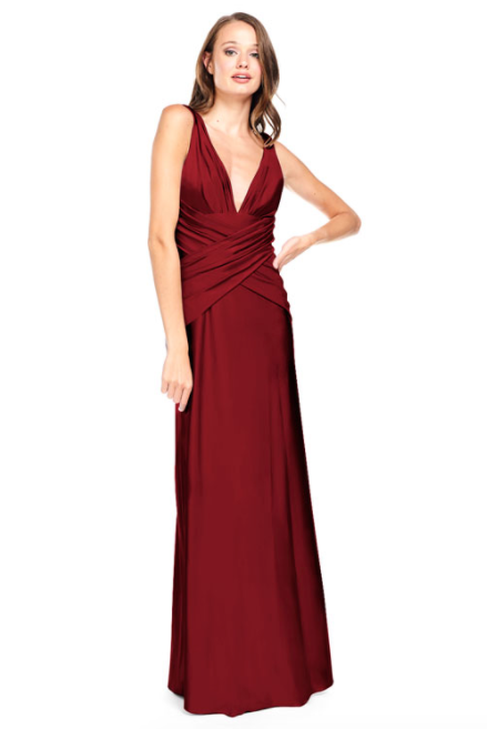 Bari Jay Bridesmaid Dress 2001 -Wine