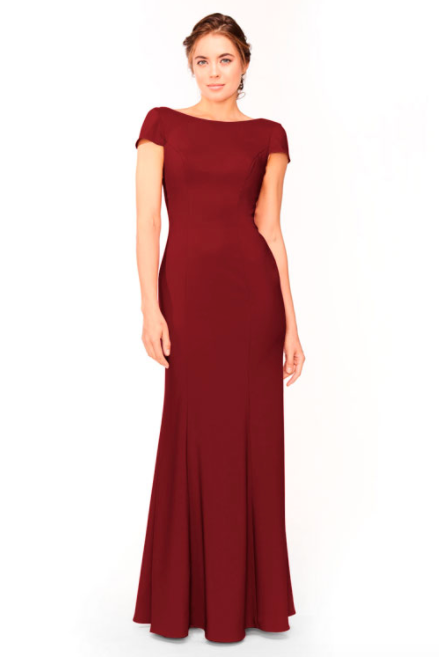Bari Jay Bridesmaid Dress 1953 - Wine
