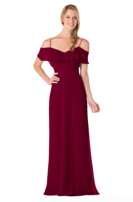 Bari Jay Bridesmaid Dress - 1730-Wine