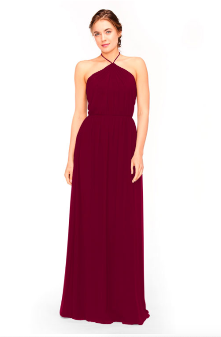 Bari Jay Bridesmaid Dress 1969 - Wine