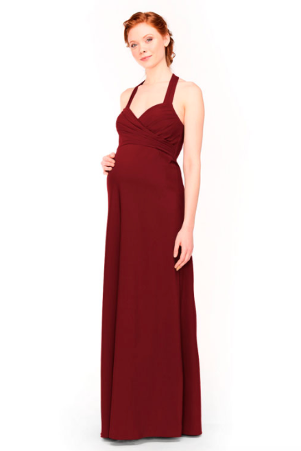 Bari Jay Maternity Bridesmaid Dress 1958 -Wine