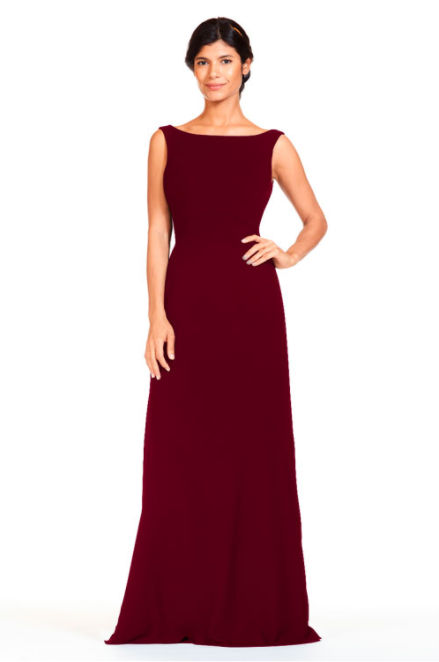 Bari Jay Bridesmaid Dress 1818 -Wine