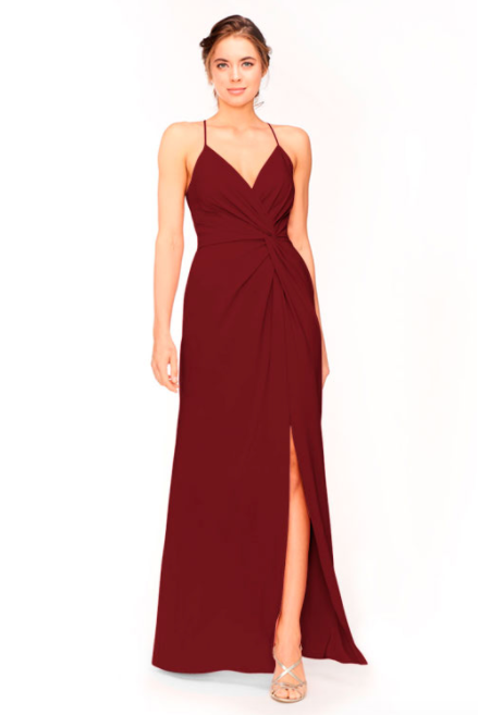 Bari Jay Bridesmaid Dress 1951 - Wine
