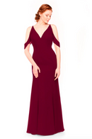 Bari Jay Bridesmaid Dress 1972 - Wine